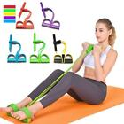 4 Tube Fitness Elastic Pull Rope Foot Pedal Body Slim Yoga Resistance Bands 4 Co