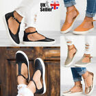 Kyпить Womens T-Bar Ankle Strap Sandals Ladies Summer Beach Closed Toe Flat Shoes Size на еВаy.соm