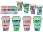Mermaid Thermal Travel Coffee Mug Double Walled Silicone Lid Bamboo Reusable Cup