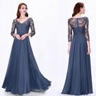 Ever-Pretty Mother Of Bride Dress Plus Size V-Neck Long Formal Dresses 07633