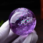 25-50mm Natural Amethyst Quartz Sphere Pretty Crystal Ball Healing Purple Stone image