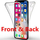 For Samsung Galaxy Phone Front and Back Full Protective TPU Gel Clear Case Cover
