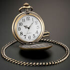 Classical Polish Quartz Men Pocket Watch Pendant Chain Smooth Retro Watches Gift image