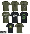 Kids Boys Army Military Childrens T-Shirt SAS Sniper Jeep Print Spitfire Zombie
