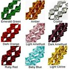 WHOLESALE GLASS BEADS FACET BICONE 9 COLORS AMBER RED BLUE GREEN PURPLE 6MM 4MM