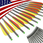 """16-22"""" Carbon Crossbow Bolts Arrows Screw Point for Hunting Shooting 12pcs/6pcs"""