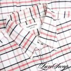 Thom Browne Made in USA Ecru Red Blue Multi Check OCBD Oxford Dress Shirt 4 #2 <br/> LUXESWAP : 17 YEARS YOUR SOURCE FOR LUXURY CONSIGNMENT!