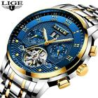 Relogio Masculino LIGE Men's Steel Luxury Automatic Mechanical Business Men Watc image