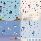 Ocean Animals Wall Sticker Mermaid Dolphins Wall Decals Kids Girls Home Decor