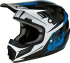 Z1R Rise Ascend Youth MX Offroad Helmet Blue