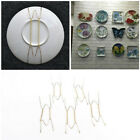 5x Plate Wire Hanging White Hanger Flexible With Spring Wall Display&Art Decor O