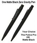 One (1) Matte Black ZG Fisher Space Pen / Your Choice the #ZGMB or the #PPROMB