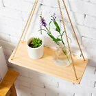Wood Wall Shelf Racks Flower Pot Storage Rack Nordic Wall Hanging+2pcSling Decor