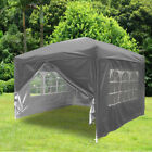 3x3m Garden Pop Up Gazebo Marquee Party Tent Wedding Canopy 4 Sides 7 Colours