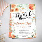 Peach Floral, Spring Invitation, Bridal Brunch or Bridal Shower Invite