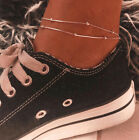 Women's Simple Beaded Chain Anklet Personality Double Layer Sexy Jewelry Gift