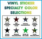 Star Stickers Specialty Vinyl Pick Color, Size, - Arts, Crafts, Decor Oracal 651
