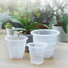 Clear Plastic Mesh Pot Orchid Flower Container Planter Gardening Home Decor