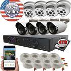 Sikker Standalone 8 ch Channel DVR 1080P Surveillance Camera Security System lot