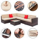 Rattan Wicker Sofa Outdoor Home Garden Coffee Sectional Sofa Table Furniture New