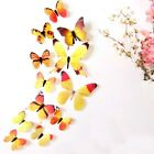 12 x 3D Decal Colourful Butterflies Wall Stickers Home Decor W