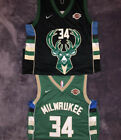 NWT Giannis Antetokounmpo 34 MilwaukeeBucks Green Black Mens Jersey S XL