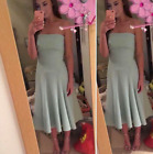 Karen Millen Mint Strapless Midi Fit Flare Prom Party Dress 8 to 12 DY163 New