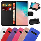 Samsung Galaxy S10 Case Luxury Genuine Real Leather Flip Wallet Cover