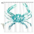 CafePress Coastal Nautical Beach Crab Shower Curtain (1614564145)