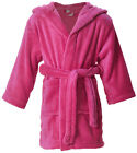 Kids Boy Girl Winter Hooded Solid Color Bath Shower Pool Robe Beach Cover Up
