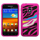 Pastel Silicone Case +Screen Film Cover For Epic Touch 4G D710/Galaxy S2 R760