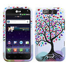 Two Piece Hard Snap on Design Protective Cover Case for LG MS840 Connect 4G
