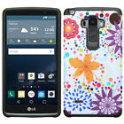 For LS770 G Stylo Hard Design +Silicone Cover Protector Case