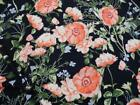 Bullet Printed Liverpool Textured Fabric 4 way Stretch Coral Navy Floral V31