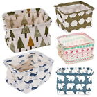 US Foldable Table Linen Storage Bin Closet Container Organizer Fabric Basket h8