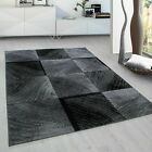 Check 8003 Modern Design Rug Black Grey Soft Large Floor Bedroom Carpet Rugs