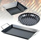Large Black Steel Outdoor Grill BBQ Barbecue Woks Pan Trays Garden Picnic...