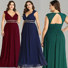 Ever-pretty US Long Chiffon Bridesmaid Dresses A-line Formal Evening Party Proms