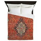 CafePress Red Vintage Persian Antique Rug Queen Duvet (225338532) image