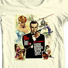 James Bond T-shirt From Russia with Love Sean Connery 100% cotton graphic tee $19.99 USD on eBay