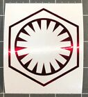 Star Wars First Order Logo Vinyl Decal Sticker Pick Color Size Quantity Oracal $2.0 USD on eBay