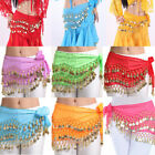 Kyпить Belly Dance Chiffon Hip Skirt Scarf Wrap Belt Costume with 3 Rows Gold Coins US на еВаy.соm