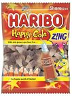 Haribo Happy Cola Zing Fizzy Cola Bottles 1 or 12 x 140g Bags of Sweets (B-Way)
