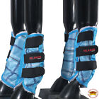 L,M,S, XL Hilason horse fly Boots UV Protection Fleece Lined 4 pack Plaid U-B104