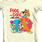 Pixie and Dixie and Mr. Jinx T shirt 1970's Saturday morning cartoon graphic tee $27.99 USD on eBay