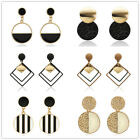 Fashion Women Statement Boho Geometric Big Pendant Ear Stud Dangle Drop Earrings image
