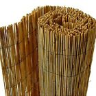 Natural Peeled Reed Screening Roll Garden Screen Fence Fencing Panel Wooden 4-6m
