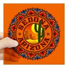 Home Decor Stores Florida CafePress Sedona Desert Circle Square Sticker 3 X 3 Square Sticker  (688434246) Yellow Lab Home Decor