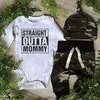 Infant Baby Boy OUTTA Clothes Camo Romper Playsuit Leggings Pants 3Pcs Outfits