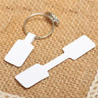 100x Blank Adhesive Sticker Ring Necklace Jewelry Display Price Label Tags HF